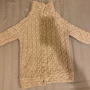 ZaRA Wool Blend Cable Knit Cardigan